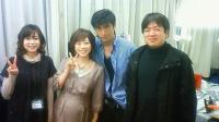 右は韓国のVTRを作っている重永ディレクター、左はスタイリストのはるかちゃん