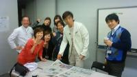 本番前の風景 福田さん、メイクさん、スタイリストさん、生駒プロデューサー